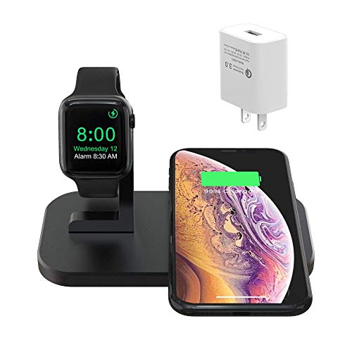 Bnchi 2-in-1 Aluminum Alloy Wireless Charging Station w/ QC3.0 Adapter $16.99