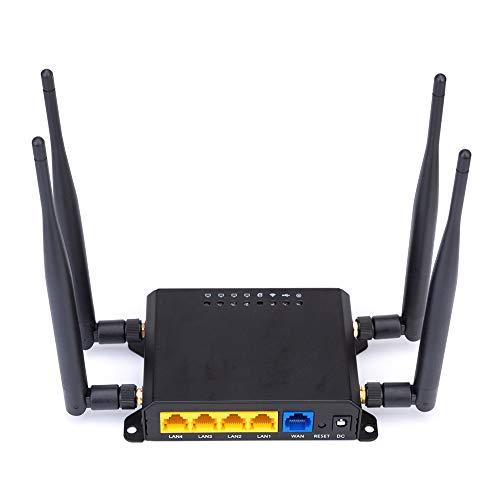 Router Wireless 4G LTE Router 300Mbps wi-fi Modem Portatile 4G Sim Router Inalámbrico Segnale Forte con Slot SIM e 4pcs5dbi Antena por Esquema SIM con Soporte para Band 10 Europa, Asia e Africa