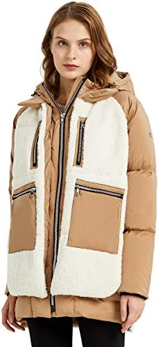 Orolay Women s Fleece Down Coat Thickened Winter Puffer Down Jacket Apple Cinnamon S product image