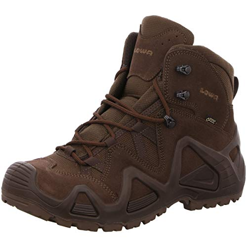 Lowa Mens Zephyr Gore-Tex Mid Task Force Dark Brown Suede Boots 41.5 EU