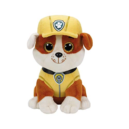 Ty Patrulla Canina Rubble 15 cm (41209TY), Color marrón, Blanco, Amarillo (United Labels Ibérica