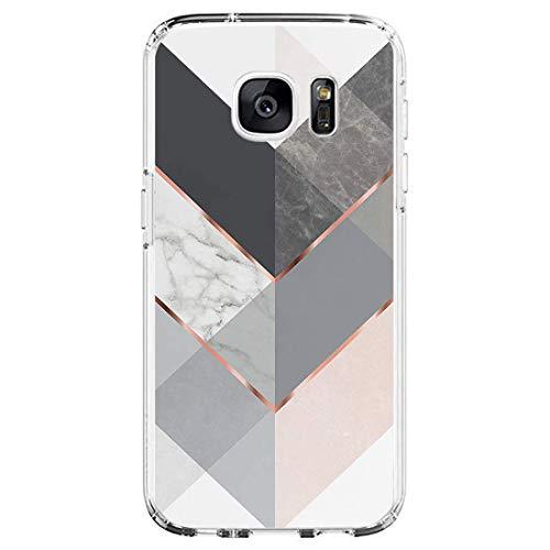 Beryerbi Hülle kompatibel mit Samsung galaxy S7 Weiche Hülle Transparente TPU Silikon für Damen Mädchen Durchsichtig mit Comic Stil Pflanze Handyhülle Silikon Hülle(Samsung galaxy S7, D)