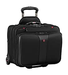 "Comp-U-Roller contains a padded compartment that protects up to a 17"" laptop Matching removable laptop slimcase protects up to a 15.4"" laptop and offers a convenient alternative to the Comp-U-Roller Ergonomic extra padded trolley handle Easy-glide wh..."
