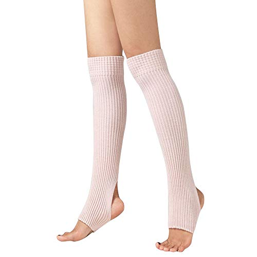 Yumimi Damen Knee High Socks Normallack Strümpfe Stricken Sport Socken Damen Stulpen Beinstulpen Socken Mit Fersenloch Gestrickt Beinwärmer Ballett