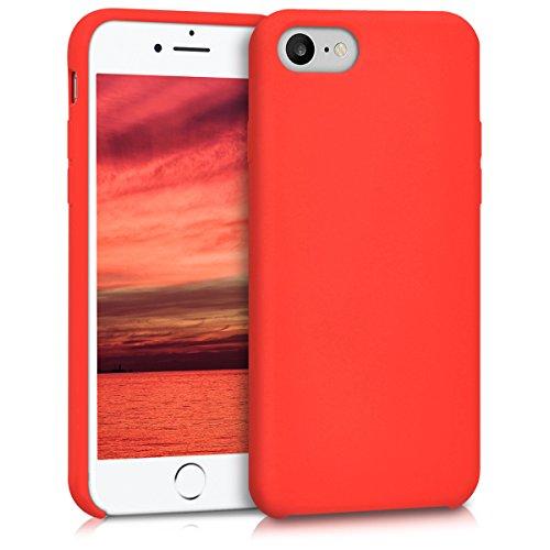 kwmobile Custodia Compatibile con Apple iPhone 7 8   SE (2020) - Cover in Silicone TPU - Back Case per Smartphone - Protezione Gommata Rosso