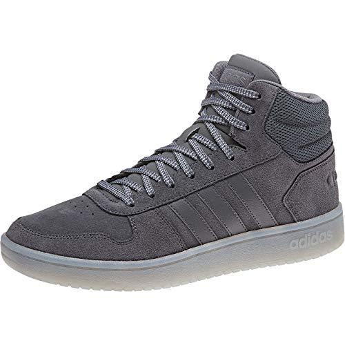 adidas Hoops 2.0 Mid Zapatos de Baloncesto Hombre, Verde (Basgrn/Basgrn/Tracar Basgrn/Basgrn/Tracar), 42 2/3 EU (8.5 UK)