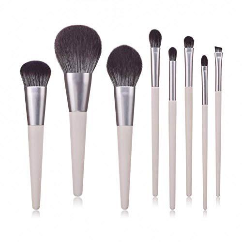OPSBNWEUYS Le Maquillage Professionnel Brosse Les Outils multifonctionnels cosmétiques en Bois argentés élégants de brosses