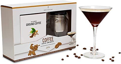 Modern Gourmet Foods - Coffee Cocktail Mason Jar Geschenkset - Set mit Glas - Filter und Kaffee