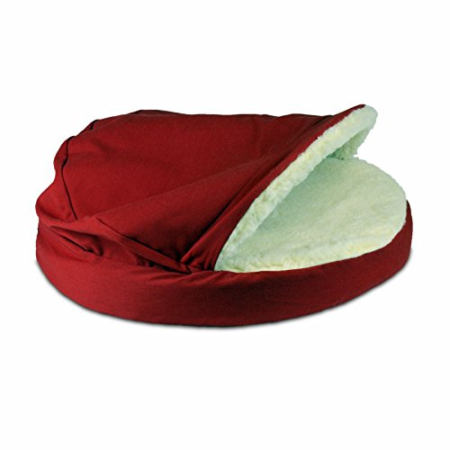 Snoozer Luxury Cozy Cave, Small, Red