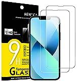 "NEW'C 2 Unidades, Protector de Pantalla para iPhone 13 Mini (5,4""), Antiarañazos, Antihuellas, Sin Burbujas, Dureza 9H, 0.33 mm Ultra Transparente, Vidrio Templado Ultra Resistente"