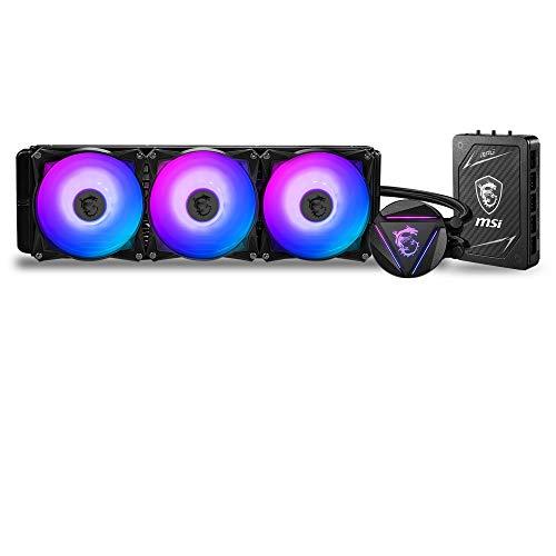 MSI MAG CORELIQUID 360RH, AIO CPU Refrigeración Liquida, Radiador 360, Bomba en Radiador, Controladora multifuncional, 3 x 120 mm Ventiladores ARGB, Intel 1151/1200/2066, AMD AM4/TR4/sTR4/SP3