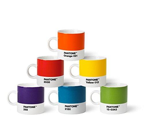 Pantone Espressotassen-Set, Porzellan, klassische Farben (old), 6.1 x 6.1 x 8.2 cm