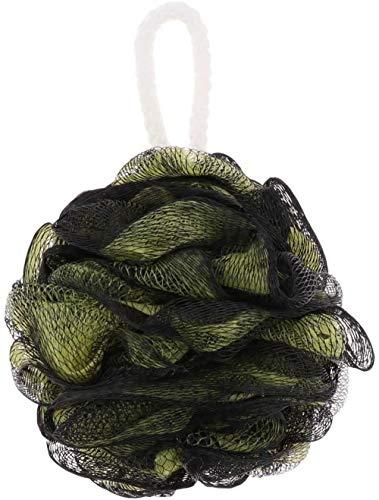 Éponge de bain en maille éponge éponge éponge exfoliante pour le corps et la douche (noir/vert)