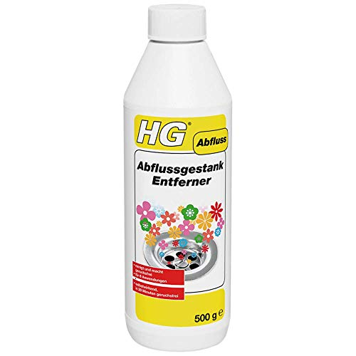 HG Abflussgestank Entferner 500 gr - Für Abflüsse in Küche oder Badezimmer - Für einen Angenehmen Duft