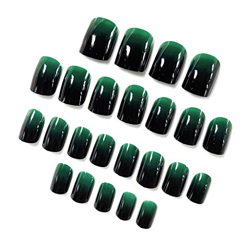 Lot de 24 faux ongles Shaoyanger - Vert dégradé