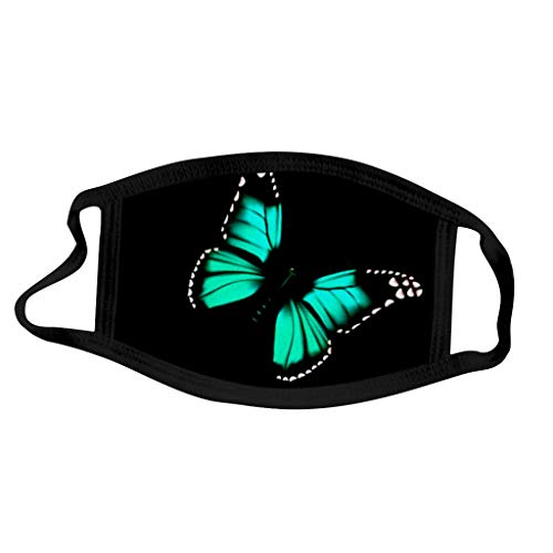MeikoHome Adult Face Bandana Butterfly Print Mouth Face Cover Washable Protection Covering Reusable for Women and Men