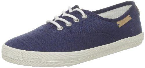 Calvin Klein Jeans Richelle CKJ Jacquard/Grosgrain - Zapatos con Cordones de Lona Mujer, Color Azul, Talla 37