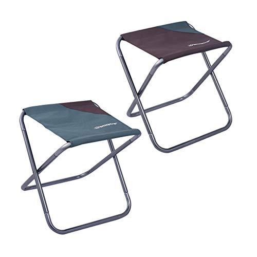 Toygogo - Juego de 2 sillas de exterior portátiles para camping, pesca, asiento deportivo