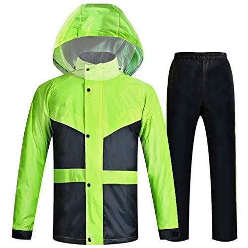 Home-life Pluie Imperméable Poncho, Pluie Haute Visibilité Veste Léger Durable Raincoat Vêtements De Travail Étanches (Size : XXXL)