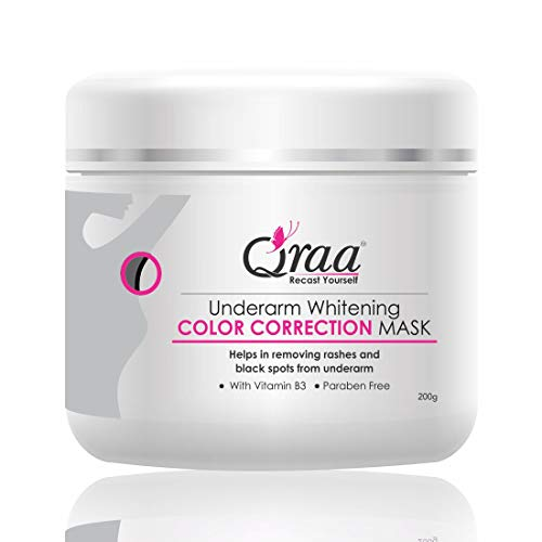 Qraa Underarm Whitening Color Correction Mask For Women With Vitamin B3 - Paraben Free Body Pack
