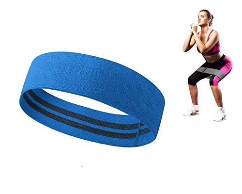 Slyk Non Slip Fabric Resistance Loop Bands for Squat Legs Butt Thighs Hip Glutes Yoga Pilates Workout Exercise Fabric Bands for Men Women (Medium - 13.5 inch)