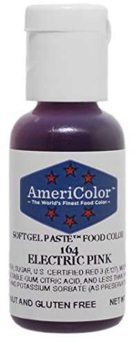 Americolor Gel Paste Food Color, Electric Pink