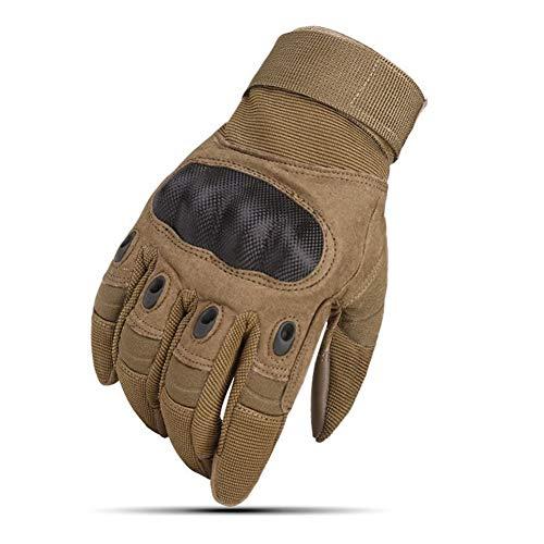 POOMALL Fingerlose Handschuhe taktische Handschuhe Männer Airsoft Handschuhe, Männer taktische Handschuhe Military Touch Screen Airsoft Handschuhe Armee Paintball Schießen Kampfausrüstung Rüstung Schu