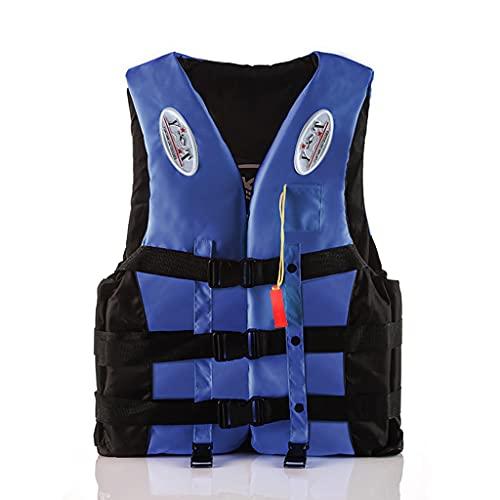 Lgan Chaleco Salvavidas, Chaleco Salvavidas para Natación para Niños Y Adultos, Chaleco Flotador para Deportes Acuáticos, Kayak, Remo, Pesca, Surf, Rafting (Size : Blue S)