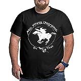 Camiseta de Gran tamaño para Hombre, Novedad de Verano Fresca, Camiseta de Manga Corta con Cuello Redondo y Manga Corta Neil Young Crazy Horse