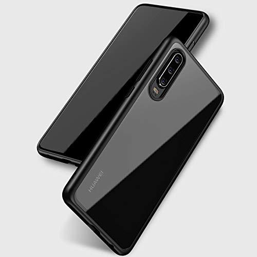 Joyguard Huawei P30 Hülle [Premium TPU + PC] [Hybrid Transparent] [Shock Proof] [Anti-Kratzer] [Ultra Slim] Huawei P30 Hülle Transparent – Schwarz - 2