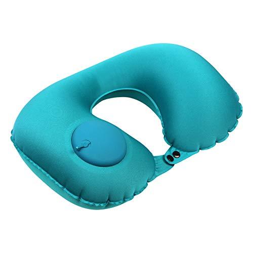 LHLHM Almohada Inflable Automática En Forma De U Almohada Protege Eficazmente El Cuello De La Columna Cervical Excelente Material Hielo Sedoso