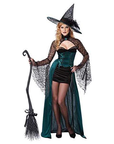 Costume Halloween / Carnevale da Strega Incantatrice – orrore sexy – donna Medium