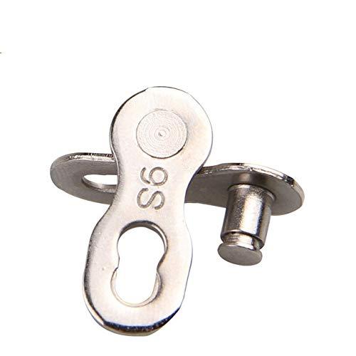 2pcs 8/9/10 Velocidad de la Cadena de la Bicicleta Botones Conector de Enlace de articulaciones de Cadena mágico Conjunto Velocidad Bicicleta de montaña (Color : 9S)