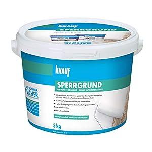 Pomo 4006379067695sperrgrund, especial Imprimación, hochwirksame manchas Ranura para contra verfärbungen de El fondo, listo para usar, color blanco, 5kg