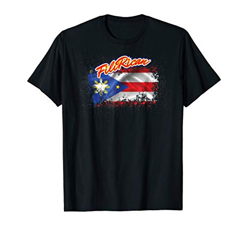 Filipino Puerto Rican FiliRican Collab FilipinoRican T-Shirt