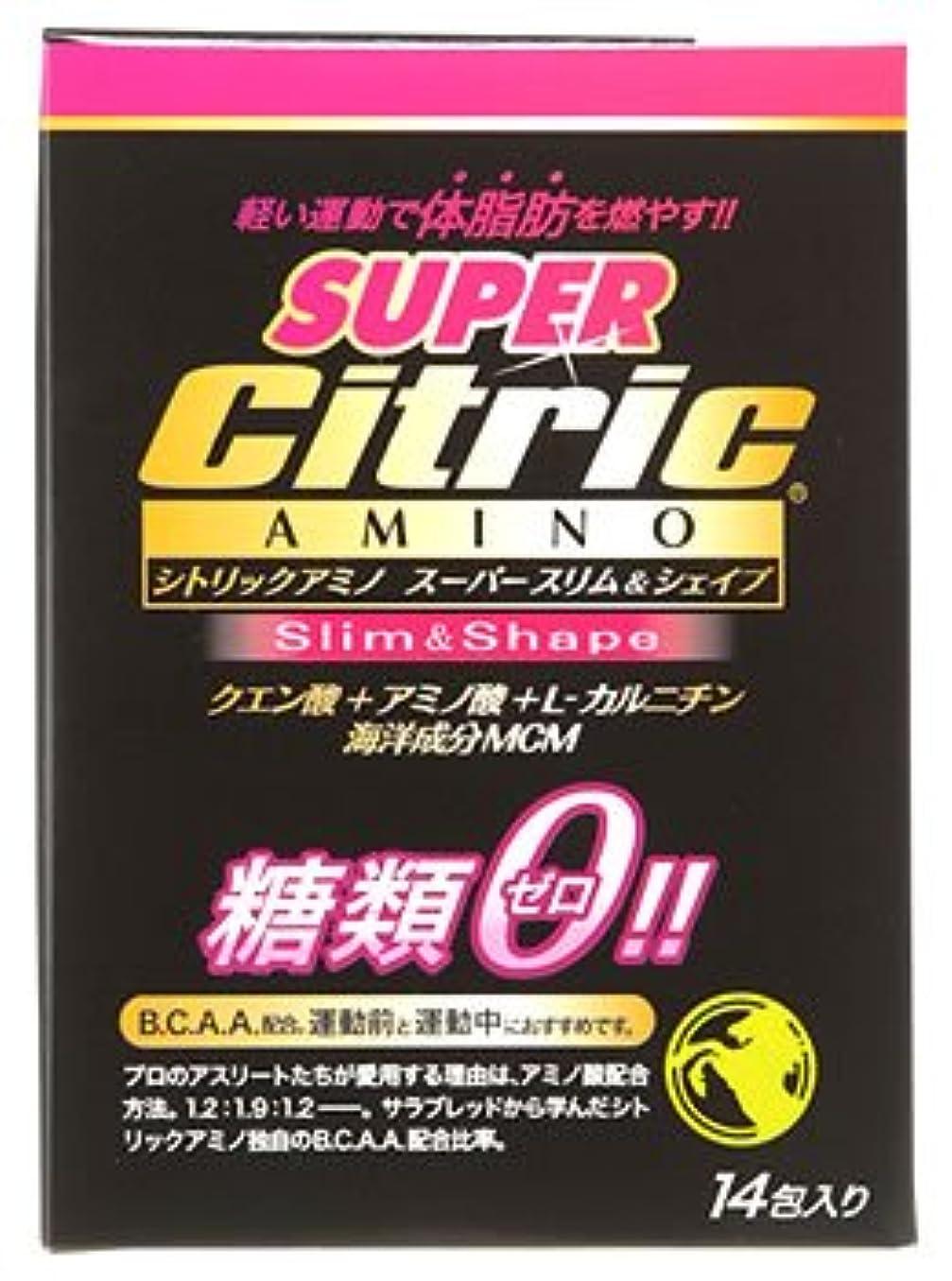 頑張る労苦オープナーメダリスト?ジャパン シトリックアミノ スーパースリム&シェイプ JP (6g×14包入) クエン酸 アミノ酸 糖類ゼロ