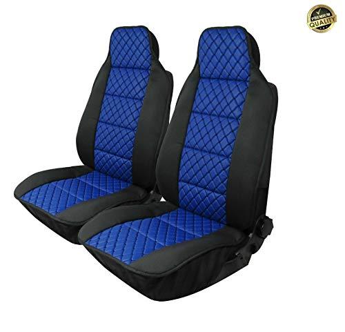 Flexzon - Juego de fundas de asiento de coche para asiento de coche (universal), color azul