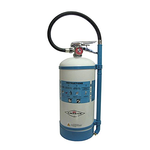 Amerex 1.75 Gallon De-Ionized Water 2-A:C Water Mist Fire Extinguisher for Class A and C Fires with Metal Valve, Non-Magnetic Wall Bracket, Hose and Wand