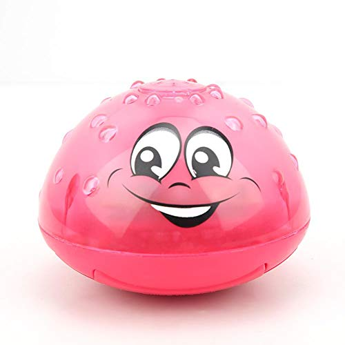 Bicaquu Elektro-Induktionsspray Wasserball Badespielzeug mit Unterhaltungsmusik(rot)