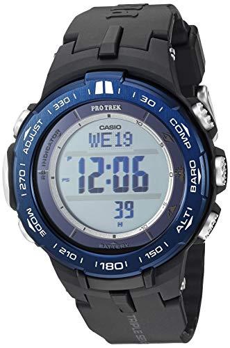 Casio Men's ' Pro Trek Quartz Stainless Steel and Resin Watch, Color:Black (Model: PRW-3100YB-1CR