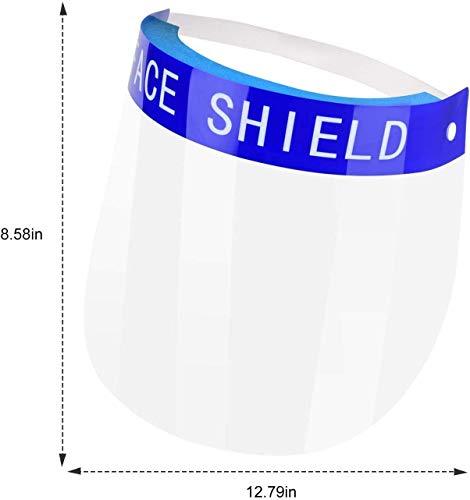 SHATCHI Safety Shield Sicherheits-Gesichtsschutz, vollständiger Schutzkappe, breites Visier, resistent, Anti-Beschlag-Gläser, leicht, verstellbar, transparent, farblos