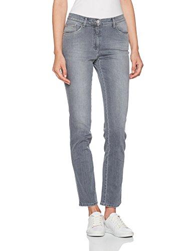 BRAX Mary Crystal Romance Damenjeans: Slim Fit Jeans im 5-Pocket-Style, Grau (Used Silver Grey 5), Gr. W34/L32 (Herstellergröße: 44)