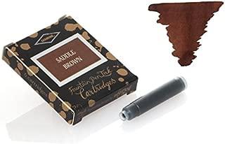 Diamine Ink Cartridges 6's Small International Size Saddle Brown
