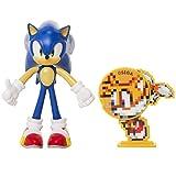Sonic: Figura de acción Sonic (tamaño 10 cm) articulada y con Accesorio...