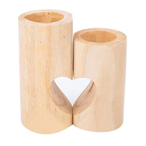 Harmily Tea Light Candle Holders Wood Tealight Holders Cute Heart Tea Light Holders for Home Decor Christmas