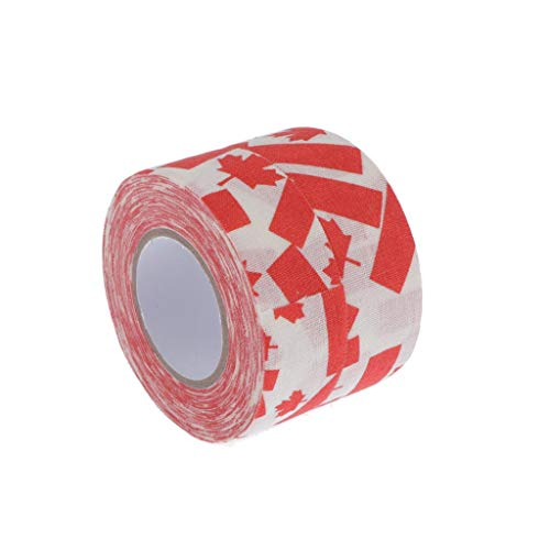 freneci 2Rolls Premium Resistente Al Desgaste Sportstape Paño de Hockey sobre Hielo Stick Tape Roller Wrap - Hoja de Arce roja, Los 2.5x1000cm