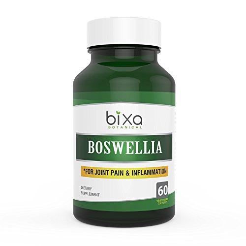 Boswellia Serrata Extract Capsules | Shallaki Extract 60 Veg Capsules (450mg) | Anti-Inflammation & Anti-Arthritic | for Immunity ǀ Swollen Lymph Nodes & Joint Pain Reliever | Bixa Botanical