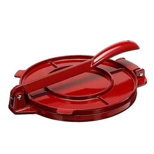 6.5 Zoll Tortilla Press Maker, Antihaft Gadgets DIY Backgeschirr mit faltbarem, stabilem Griff für hausgemachtes Tortillas oder Tacos-Kuchenfrühstück (Rot)