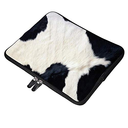 Yilooom Cow Print Pattern Neoprene Protective Laptop Sleeve 13 Inch MacBook Air Case MacBook Pro Sleeve and 13 Inch Laptop Bag Cover