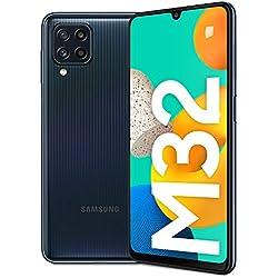 Samsung Galaxy M32 Batteria da 5.000 mAh Smartphone Android 11 Schermo Super AMOLED da 6.4 Pollici RAM 6GB Memoria Interna 128GB Black 2021, Versione Italiana